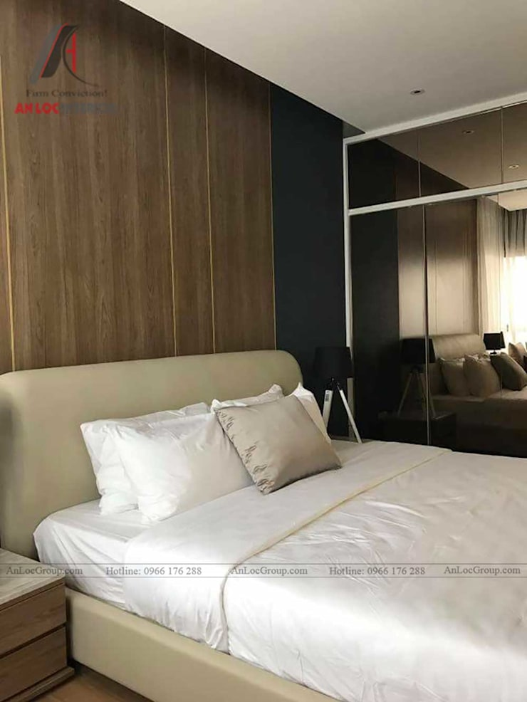 THI CÔNG NỘI THẤT CHUNG CƯ TẠI VINCITY GIA LÂM, HÀ NỘI:  Phòng ngủ by Nội Thất An Lộc