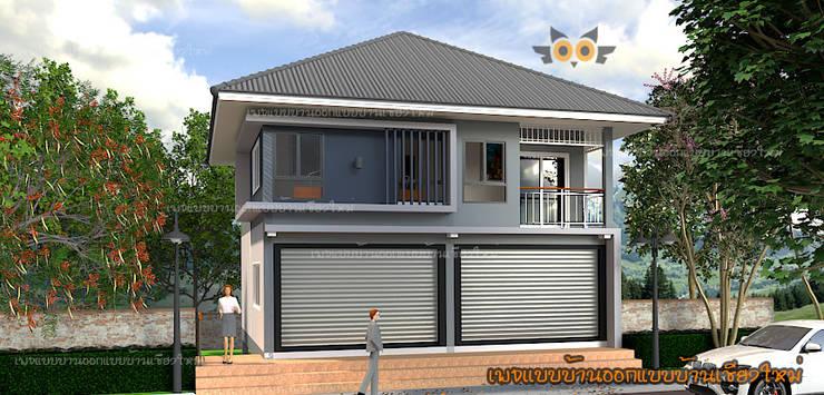 ด้านหน้าบ้าน:   by แบบบ้านออกแบบบ้านเชียงใหม่