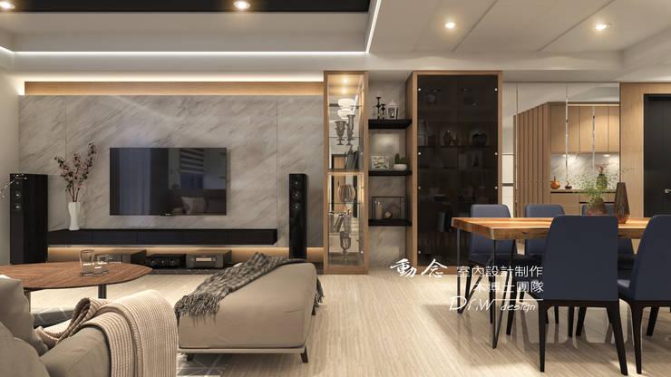 客廳/歐式系統家俱/大理石/低調極簡的現代禪風:  客廳 by 木博士團隊/動念室內設計制作