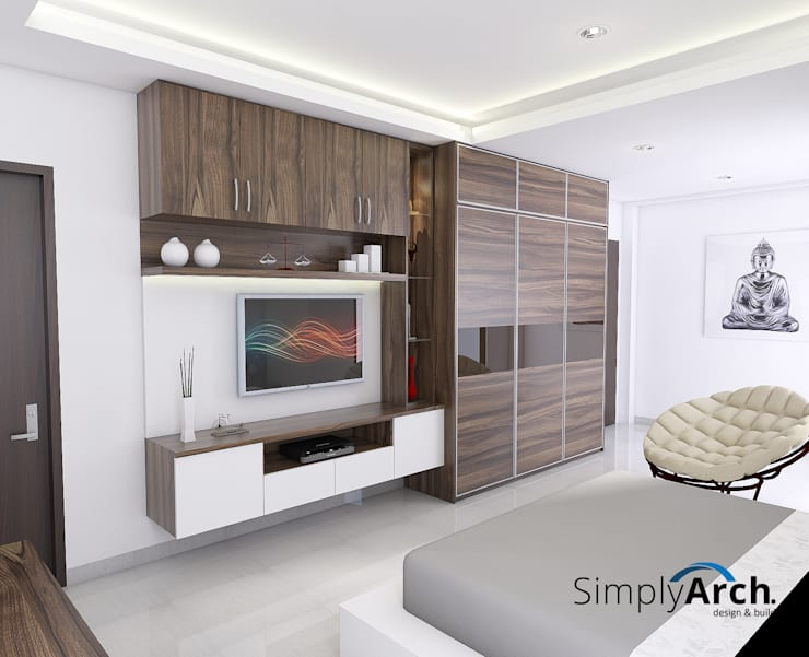 Wardrobe and TV Credenza Oleh Simply Arch.