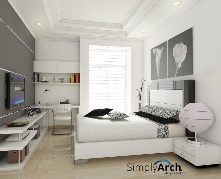 Bedroom at Pantai Indah Kapuk, North Jakarta:  Kamar Tidur by Simply Arch.