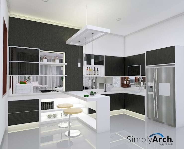 W-House at Pluit, North Jakarta:  Dapur built in by Simply Arch.