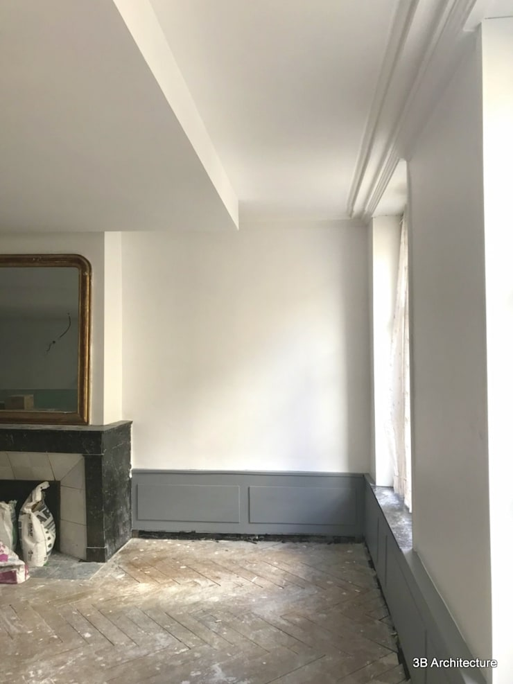 Appartement S02: Salon de style de style Moderne par 3B Architecture