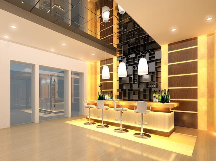 Reception and Front Desk:  Corridor & hallway by Space Design Group Architects