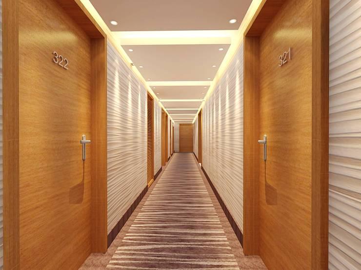 Corridor look :  Corridor & hallway by Space Design Group Architects