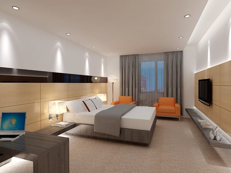 Bedroom Design Ideas: modern Bedroom by Space Design Group Architects