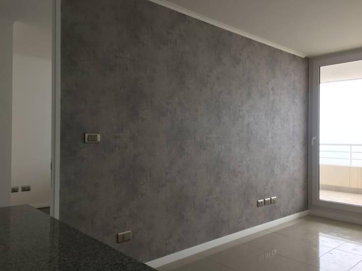 Tipo cemento: Paredes y pisos de estilo  por R-Innovare / Diseño de interiores y Arquitectura / Santiago y Viña del mar