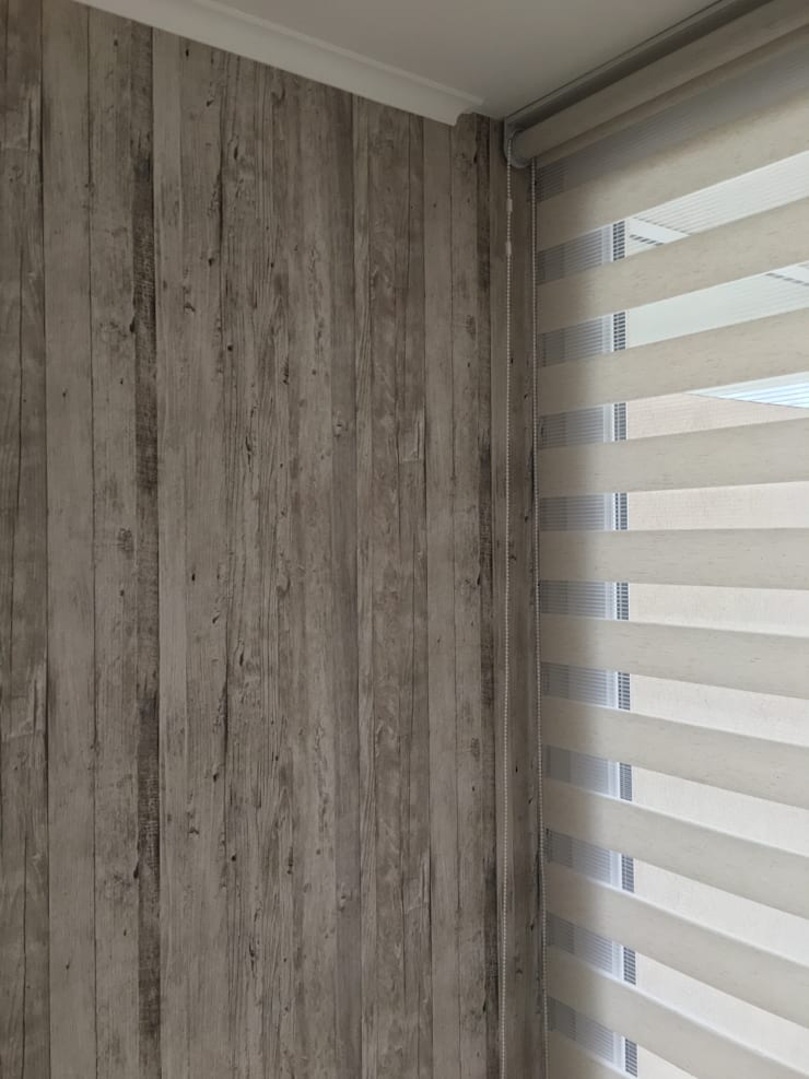 Tipo madera: Paredes y pisos de estilo rústico por R-Innovare