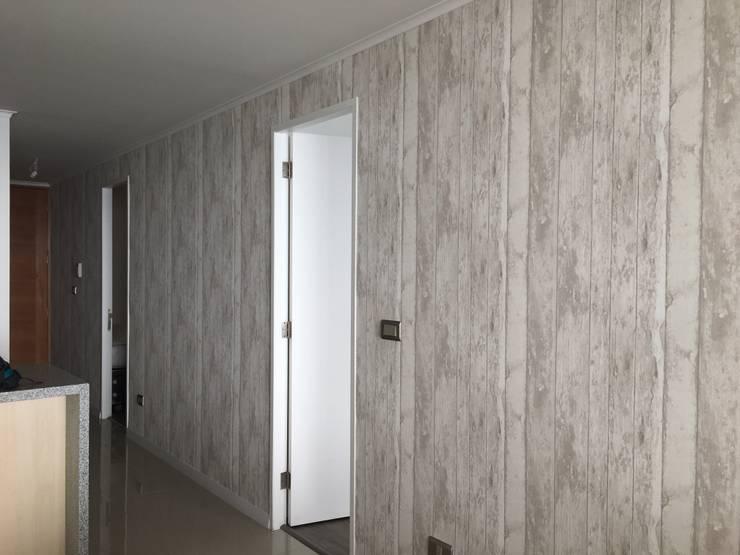 Tipo madera: Paredes y pisos de estilo  por R-Innovare / Diseño de interiores y Arquitectura / Santiago y Viña del mar