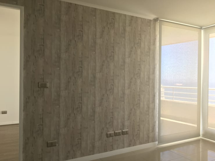 Tipo porcelanato: Paredes y pisos de estilo  por R-Innovare / Diseño de interiores y Arquitectura / Santiago y Viña del mar