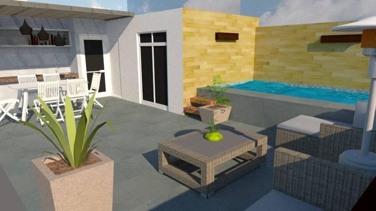 Diseño de Terraza: Terrazas de estilo  por Diseño & Estilo