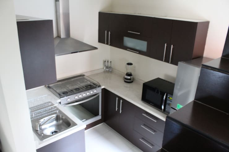 casa estrella: Muebles de cocinas de estilo  por nido arquitectos