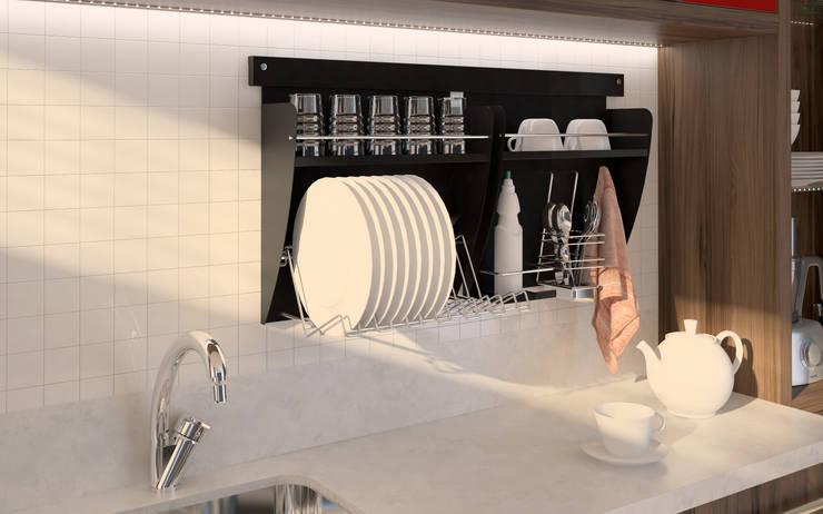 Nichos Organizadores para Cozinha: Cozinha  por Intervento Design