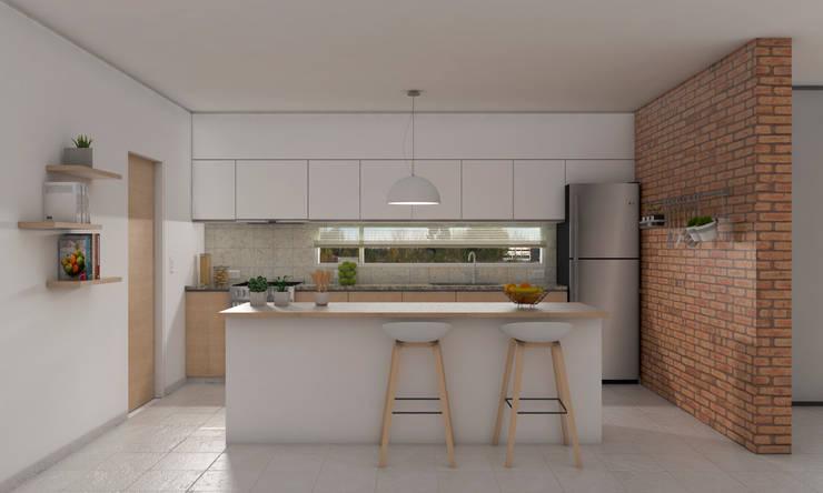 VIVIENDA AG: Casas unifamiliares de estilo  por CUBO ARQUITECTURA,