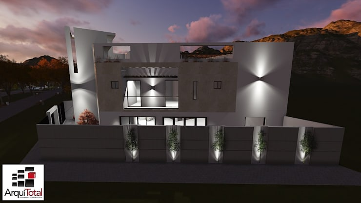 Casa PCH Surco: Casas unifamiliares de estilo  por Arquitotal SAC