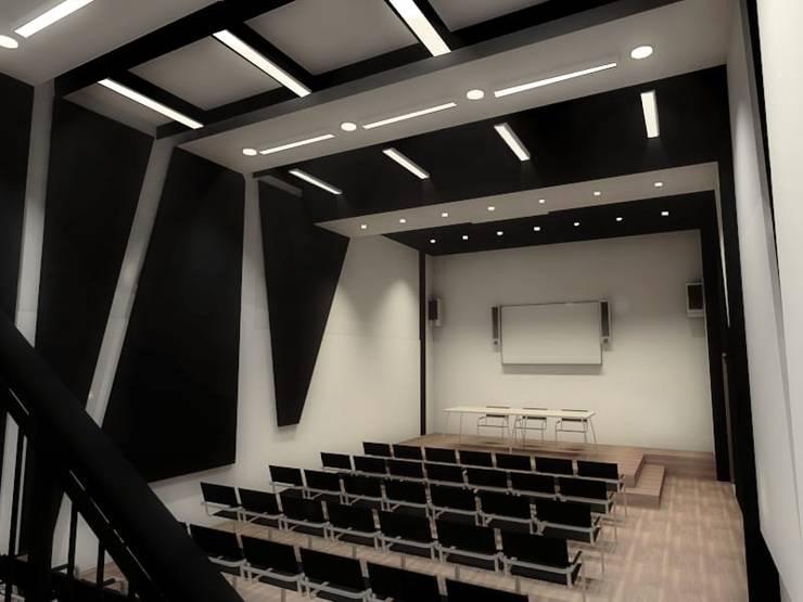 Salas multimedia de estilo minimalista por Plano 13