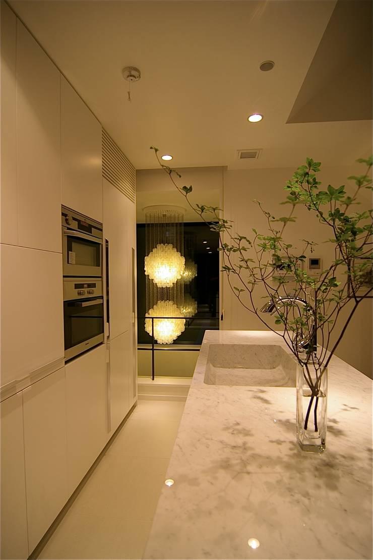 キッチン: Sデザイン設計一級建築士事務所が手掛けたキッチン収納です。