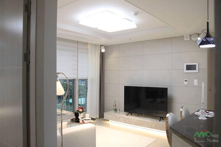 부산 모델하우스 세팅, 낭만적인 클래식스타일 – 노마드디자인 : 노마드디자인 / Nomad design의  거실
