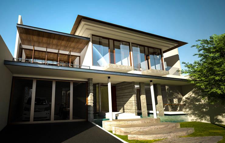 Casa unifamiliare in stile  di AIGI Architect + Associates