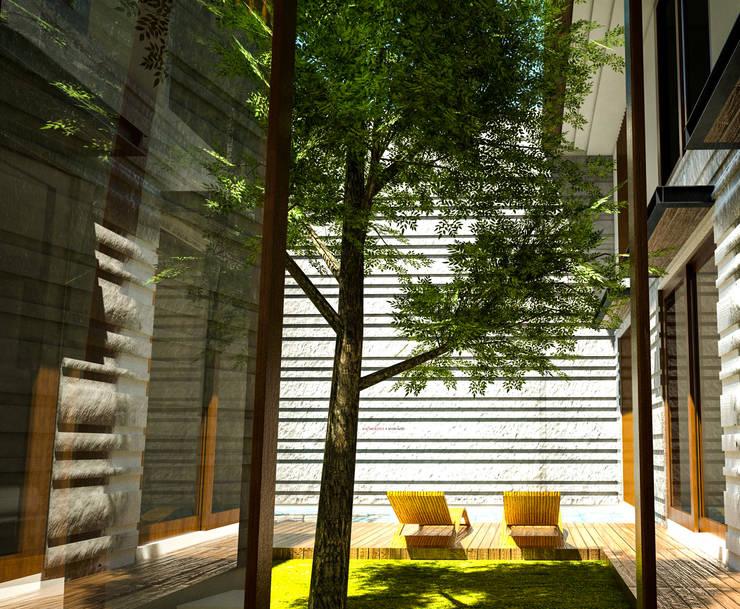 Daylight House:  Taman by AIGI Architect + Associates