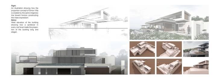 Simon Chapel Villa:   by Monuspace Architect