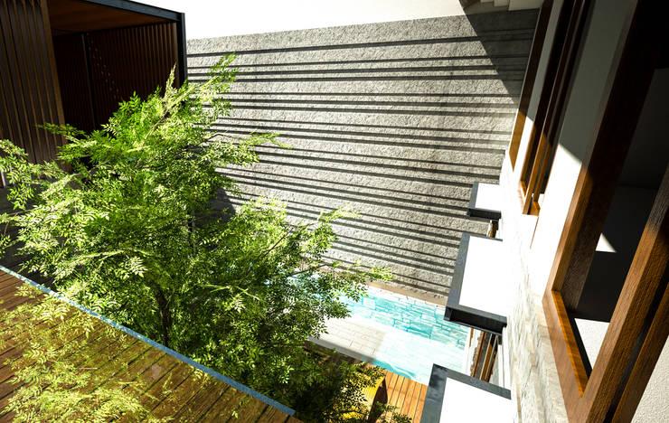 Terrazza in stile  di AIGI Architect + Associates