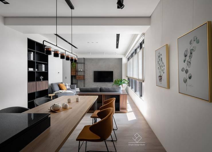 極簡室內設計 Simple Design Studio의  다이닝 룸