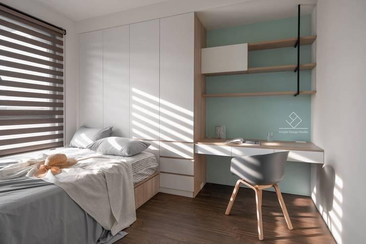 極簡室內設計 Simple Design Studio의  침실