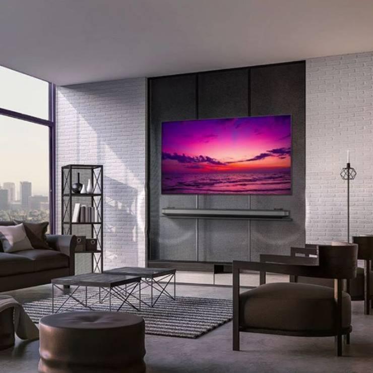 LG SIGNATURE OLED W8 :  de estilo  por LG SIGNATURE, Minimalista Vidrio