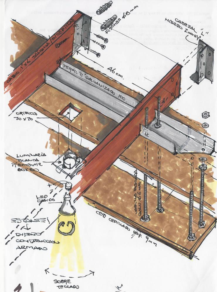 Nueva sede de estudioZBR & asociados: Estudios y oficinas de estilo  por estudio ZBR - arquitectura - diseño + construcción,