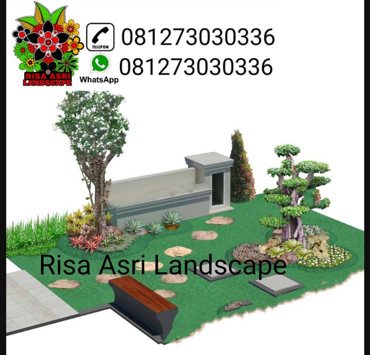Jasa tukang taman surabaya:  Ruang Komersial by Risa asri landscape