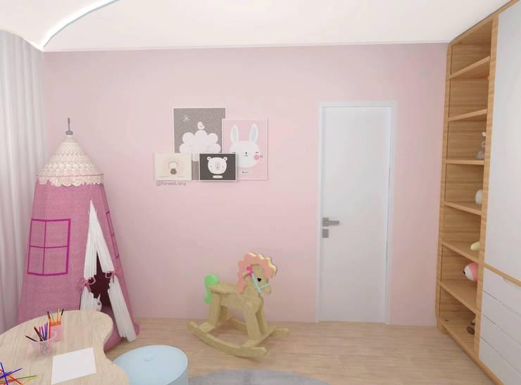 غرفة نوم بنات تنفيذ Fareed Arquitetos Associados