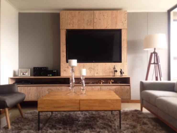 Acabado : Salas de estilo  por CM ephimeral, Moderno Aglomerado