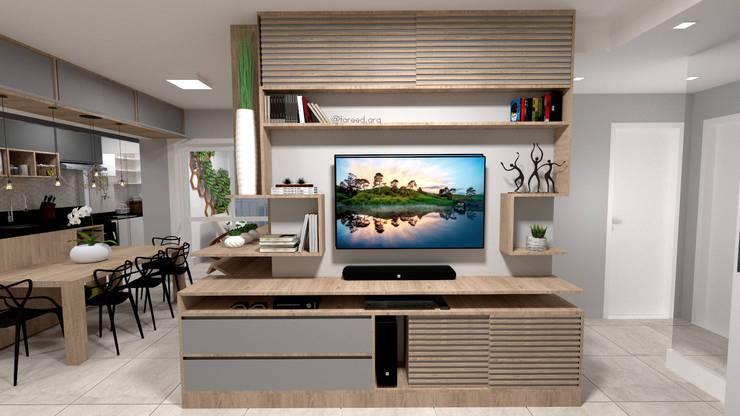 Sala de Estar: Salas de estar  por Fareed Arquitetos Associados