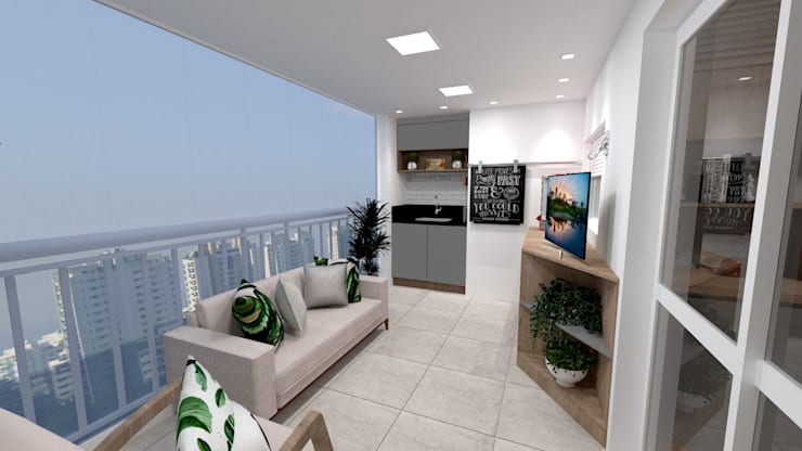 Terraço Gourmet : Terraços  por Fareed Arquitetos Associados
