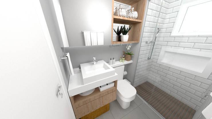 Banheiro Social: Banheiros  por Fareed Arquitetos Associados