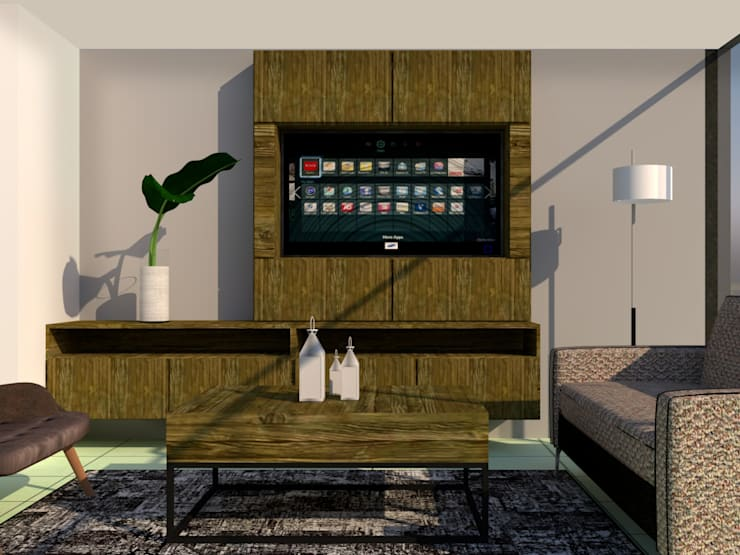 Modelo : Salas de estilo  por CM ephimeral, Moderno Aglomerado