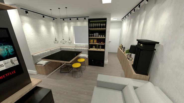 Projeto Residencial - 54m²: Salas de jantar  por Fareed Arquitetos Associados