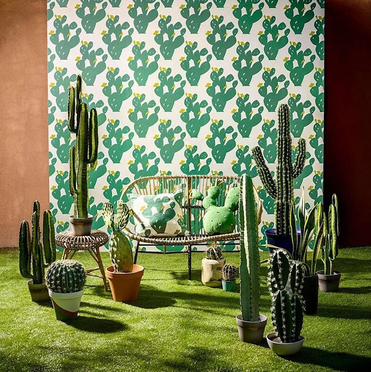 Scion墻紙英国进口墙纸品牌,现代装饰艺术:  客廳 by 北京恒邦信大国际贸易有限公司