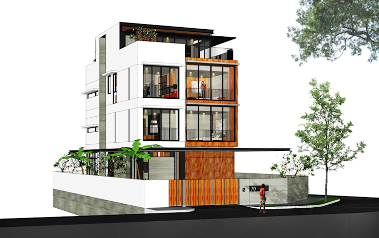 Reconstruction of Landed House at Jalan Senyum:   by RSDS Architects,