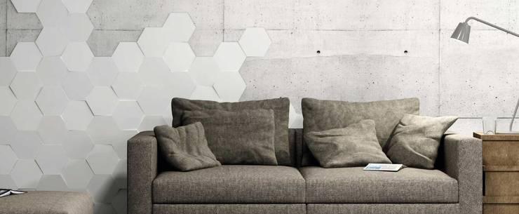 WOW瓷磚葡萄牙進口瓷磚產品,現代高端品質生活:  客廳 by 北京恒邦信大国际贸易有限公司
