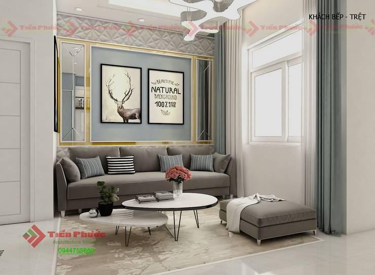 H28 Lovera Park:  Phòng khách by Công Ty TNHH Kiến Trúc Nội Thất Tiến Phước