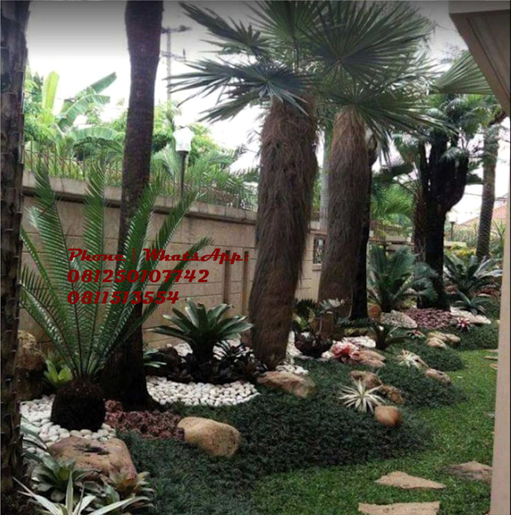 Taman rumah tinggal kawasan elite surabaya :  Garden  by TUKANG TAMAN SURABAYA - jasataman.co.id