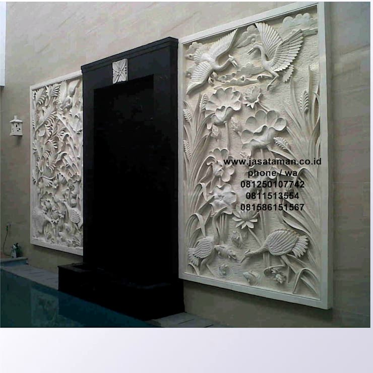 Taman relief dekorasi surabaya jawa timur I:  Garden  by TUKANG TAMAN SURABAYA - jasataman.co.id