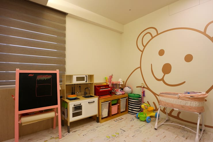 質感輕工業與懷舊三合院的幸福調和:  育嬰房 by 青築制作