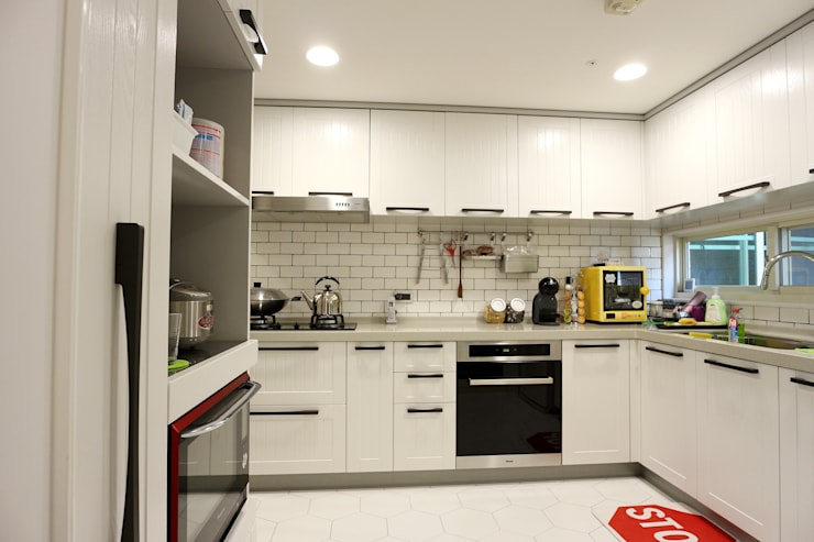 質感輕工業與懷舊三合院的幸福調和:  系統廚具 by 青築制作