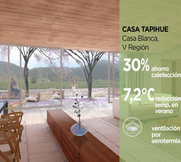 Casa Tapihue: Casas de estilo moderno por Pasiva