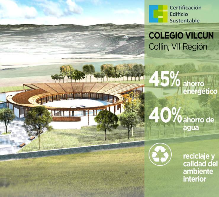 Colegio Vilcún: Casas ecológicas de estilo  por Pasiva