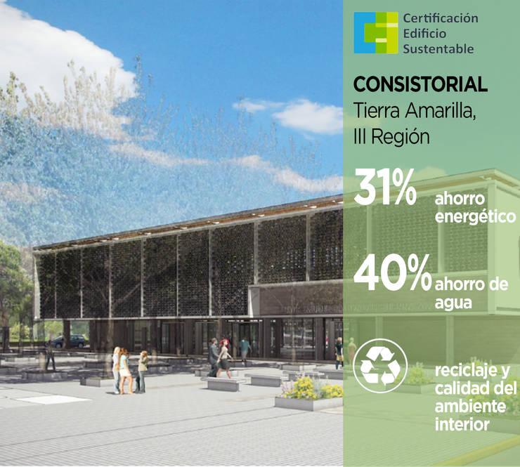 Edificio Consistorial Tierra Amarilla: Casas ecológicas de estilo  por Pasiva