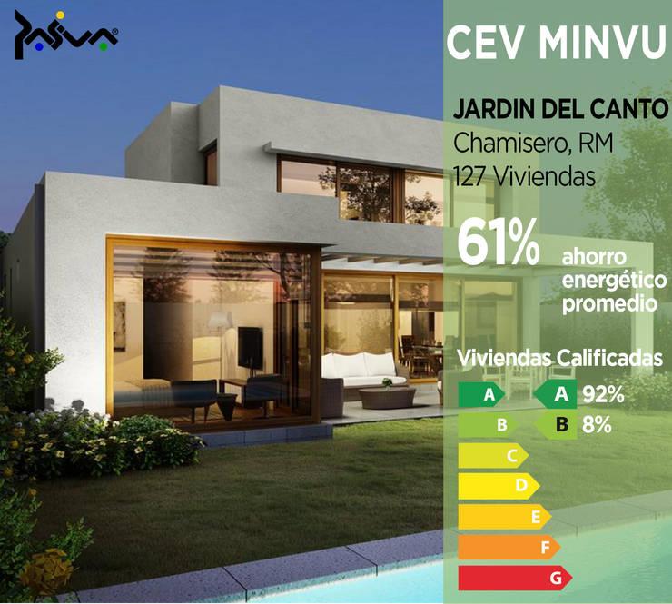Calificación Energética Viviendas, condominio Jardín del Canto: Casas ecológicas de estilo  por Pasiva